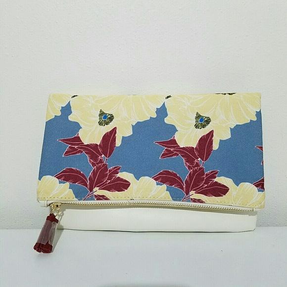 Rachel Pally Handbags - Rachel Pally Reversible Clutch Purse Floral